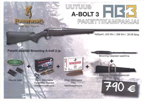 Browning A-Bolt 3 Pakettikampanja